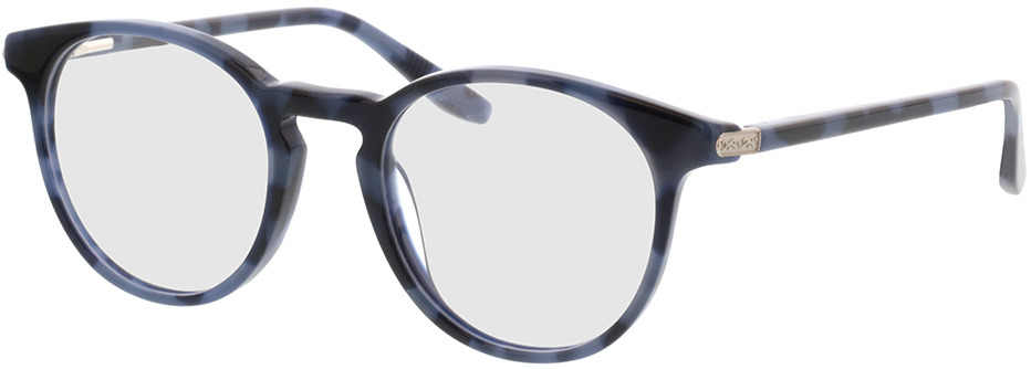 Picture of glasses model Viola-blau-meliert in angle 330