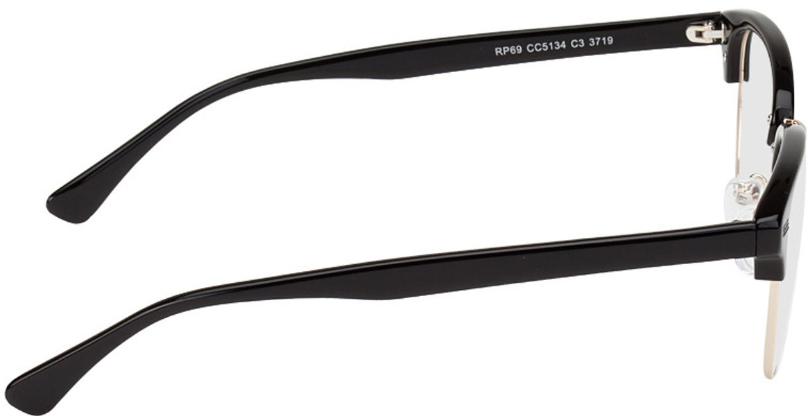 Picture of glasses model Houston-schwarz/gold in angle 90