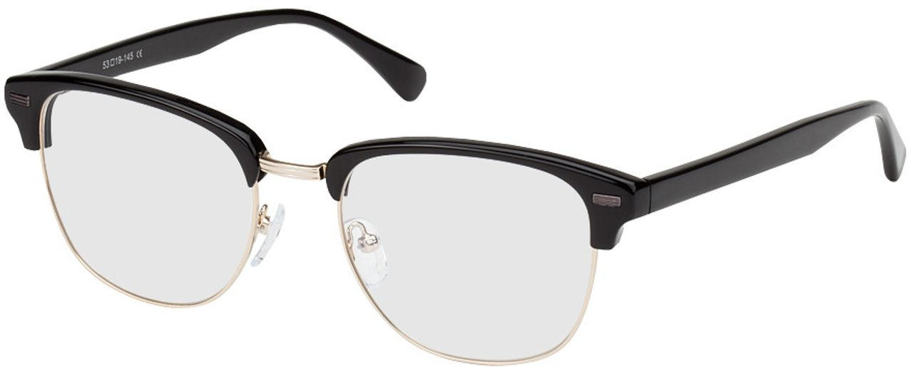 Picture of glasses model Houston-schwarz/gold in angle 330
