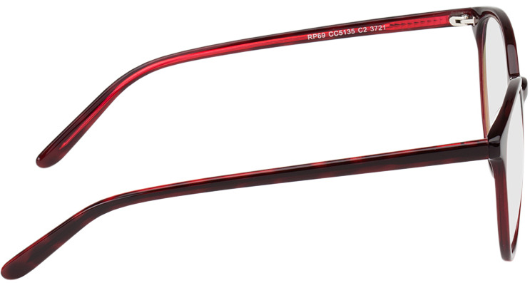 Picture of glasses model New York red in angle 90