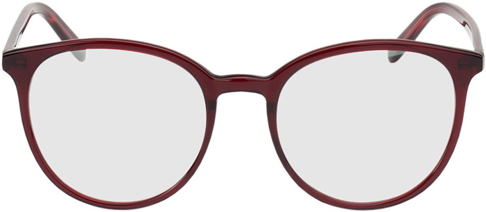 Picture of glasses model New York red in angle 0