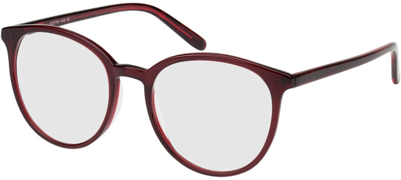 Picture of glasses model New York red in angle 330