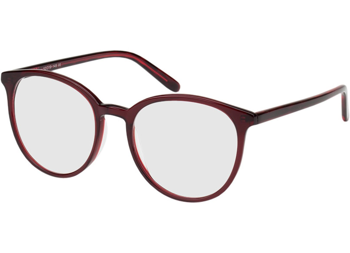3721-singlevision-0000 New York-rot Gleitsichtbrille, Vollrand, Rund Brille24 Collection