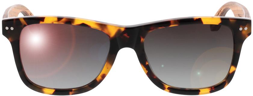 Picture of glasses model Wood Fellas Sunglasses Plassenburg zebrano/havana 53-18 in angle 0