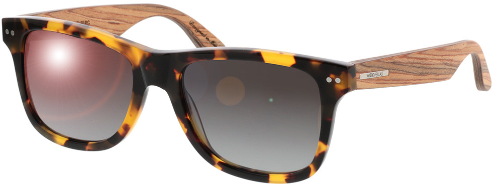 Picture of glasses model Wood Fellas Sunglasses Plassenburg zebrano/havana 53-18 in angle 330