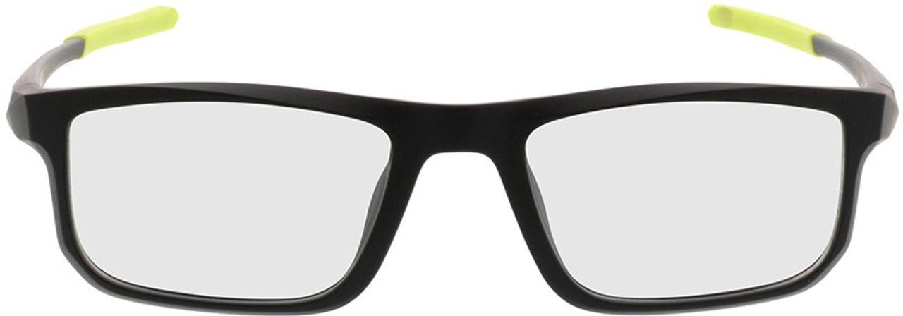 Picture of glasses model Baltimore-mattschwarz/grün in angle 0