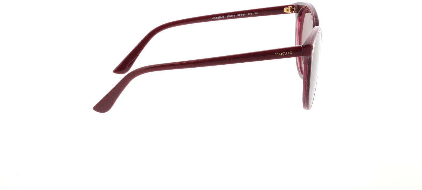 Picture of glasses model Vogue VO5230S 255575 54-21  in angle 90