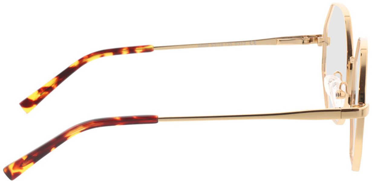 Picture of glasses model Monti-gold in angle 90
