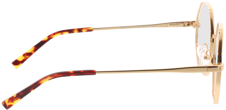 Picture of glasses model Monti-dourado in angle 90