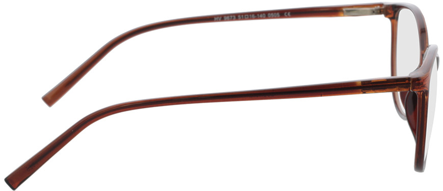 Picture of glasses model Leonora brown transparent in angle 90