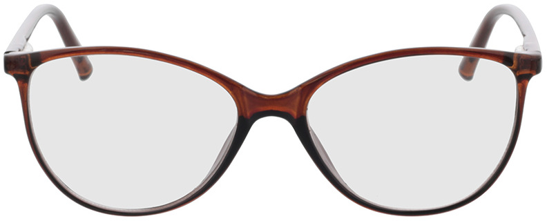 Picture of glasses model Leonora brown transparent in angle 0