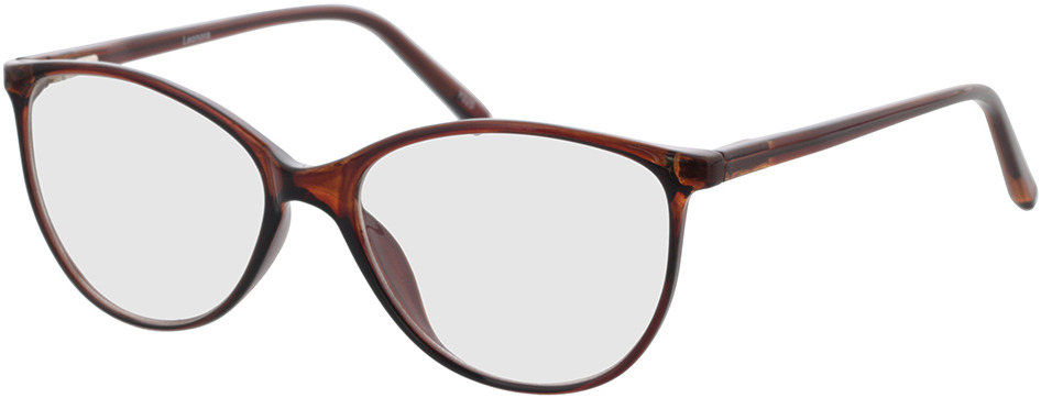 Picture of glasses model Leonora brown transparent in angle 330