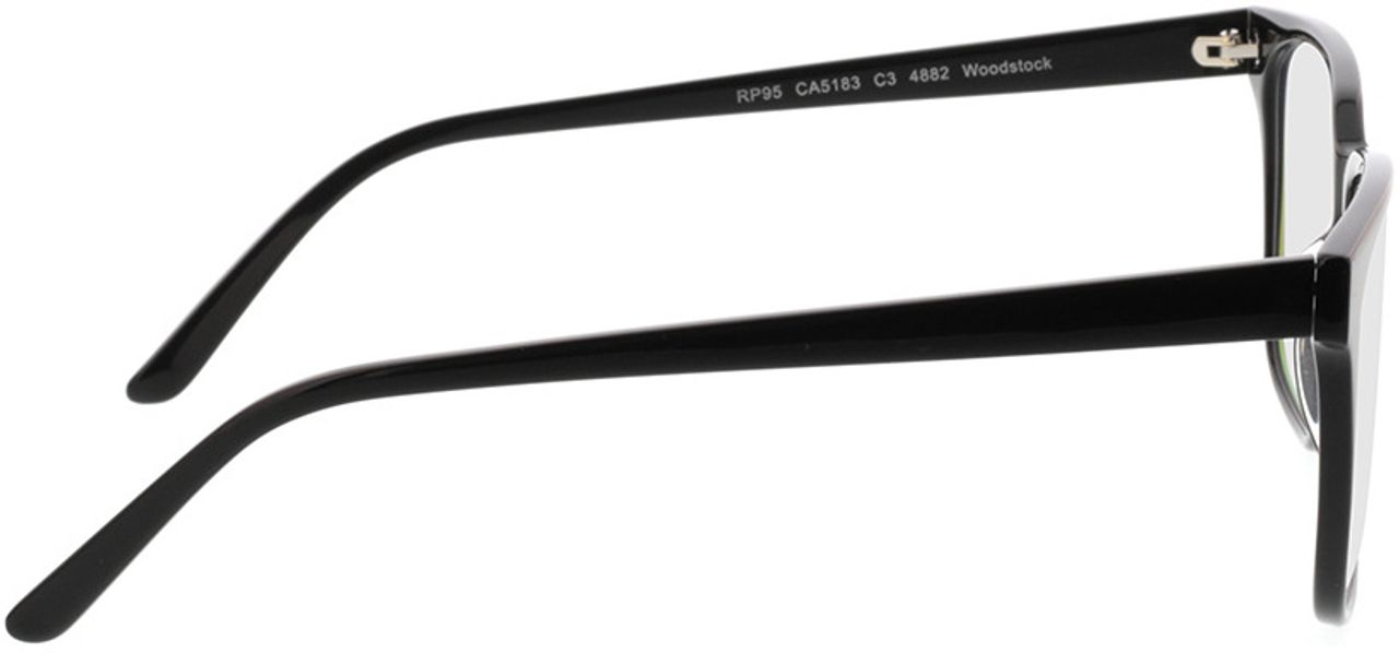 Picture of glasses model Woodstock-schwarz in angle 90