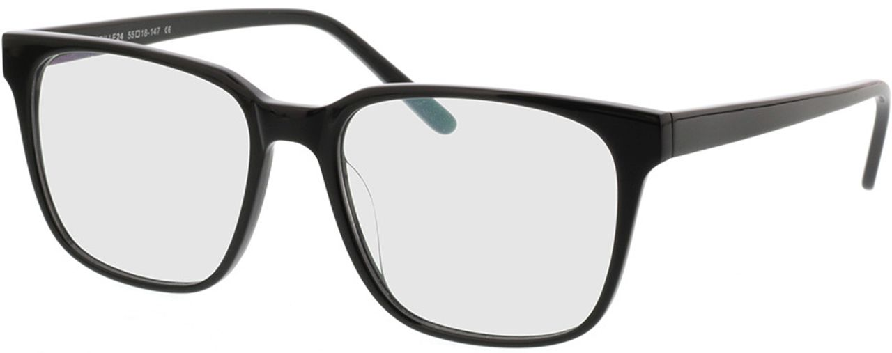Picture of glasses model Woodstock-schwarz in angle 330