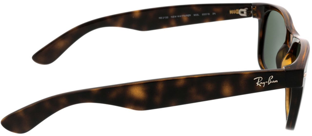 Picture of glasses model Ray-Ban New Wayfarer RB2132 902L 55-18 in angle 90