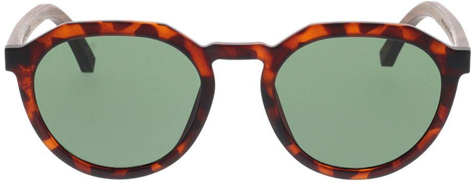 Picture of glasses model TAKE A SHOT Leo: Havana/Walnussholz 49-20 in angle 0