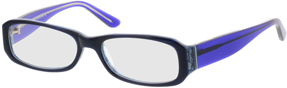 Picture of glasses model Bagheria dark-blue in angle 330