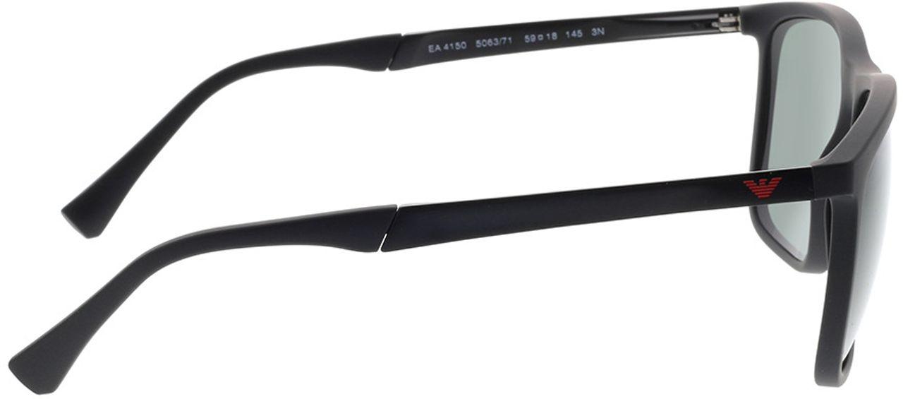 Picture of glasses model Emporio Armani EA4150 506371 59-18 in angle 90