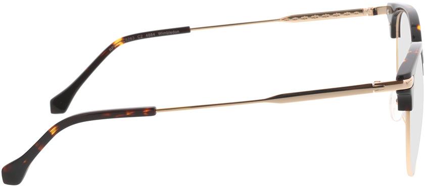 Picture of glasses model Wimbledon dourado/castanho in angle 90