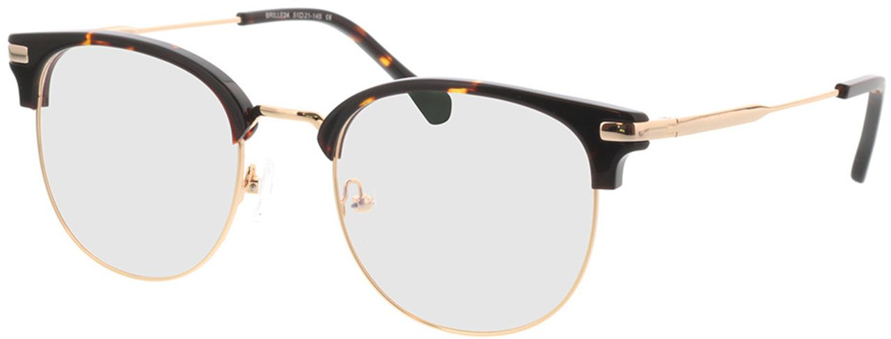 Picture of glasses model Wimbledon-gold/braun in angle 330
