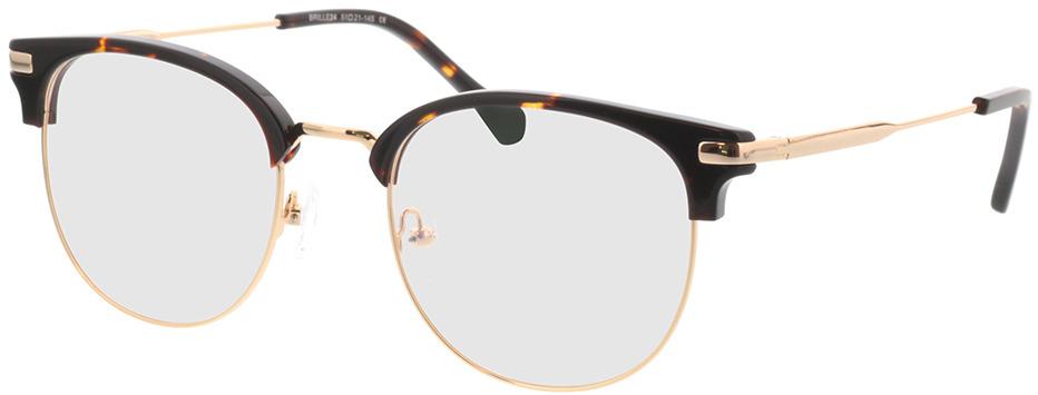 Picture of glasses model Wimbledon dourado/castanho in angle 330
