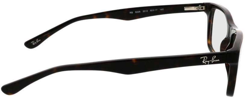 Picture of glasses model Ray-Ban RX5228 2012 50-17 in angle 90