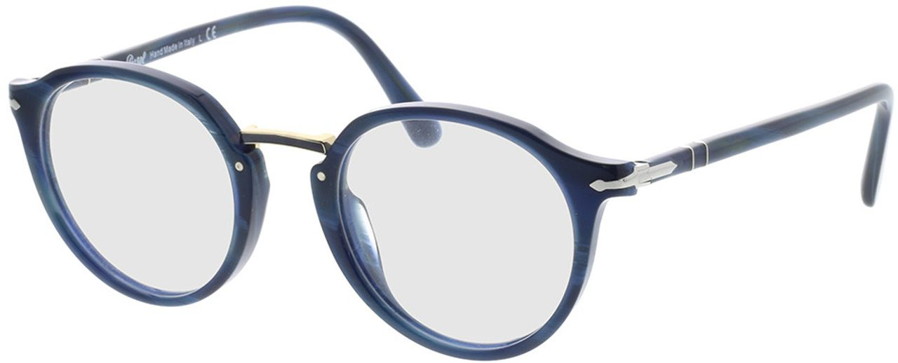 Picture of glasses model Persol PO3185V 1111 48-21 in angle 330