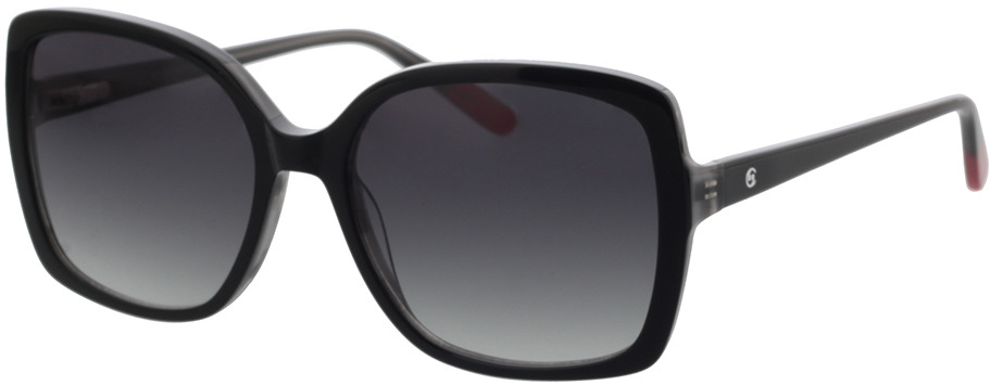 Picture of glasses model Comma, 77104 30 schwarz rot  54-16 in angle 330
