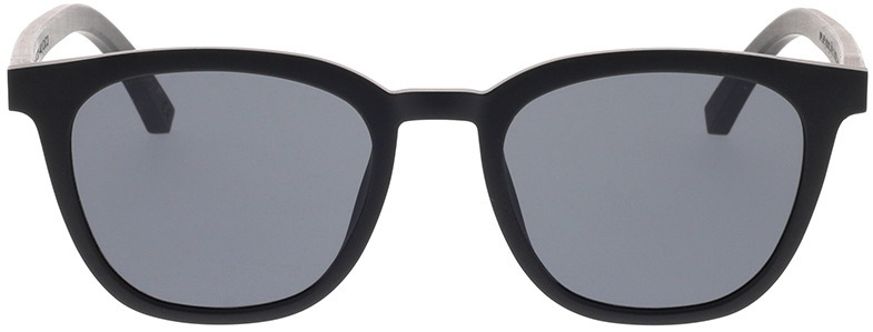Picture of glasses model TAKE A SHOT Quentin: Schwarz/Schwarzes Eichenholz 49-20 in angle 0