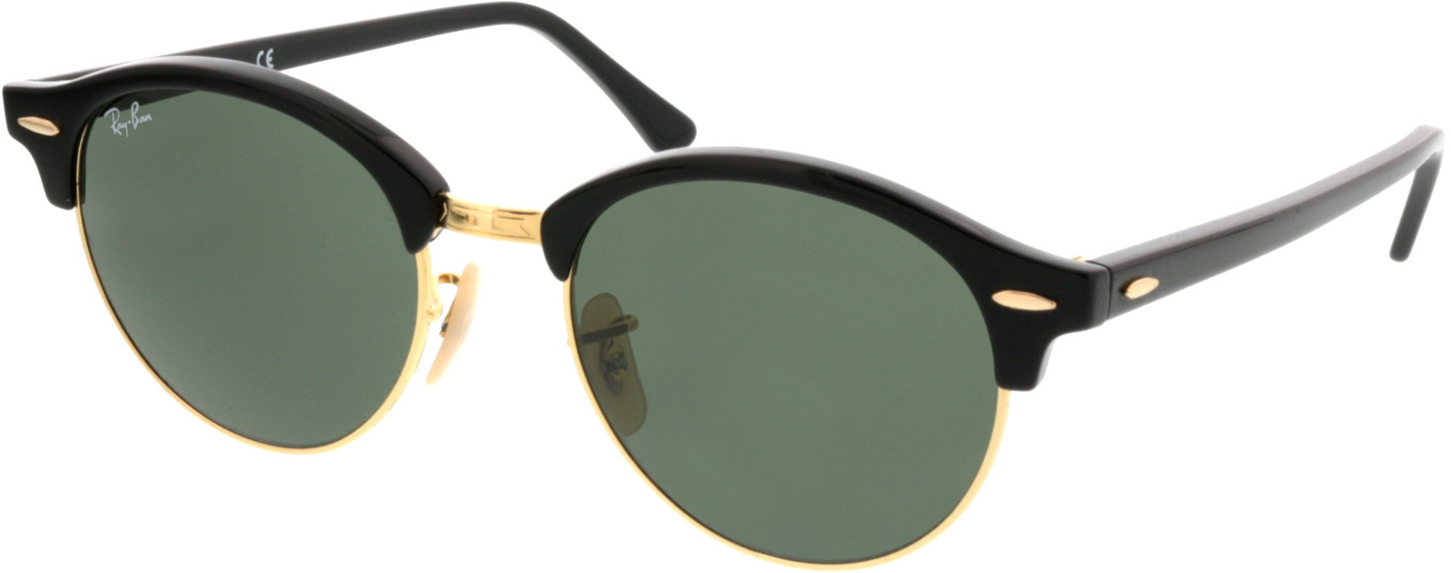 Picture of glasses model Ray-Ban Clubround RB4246 901 51 19 in angle 330