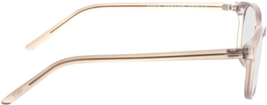 Picture of glasses model Janus-matt grau-transparent in angle 90
