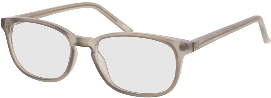 Picture of glasses model Janus-matt grau-transparent in angle 330