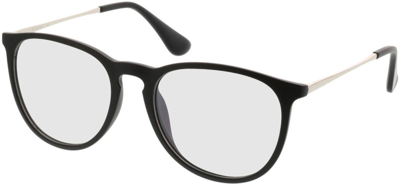 Picture of glasses model Jacksonville-mattschwarz in angle 330