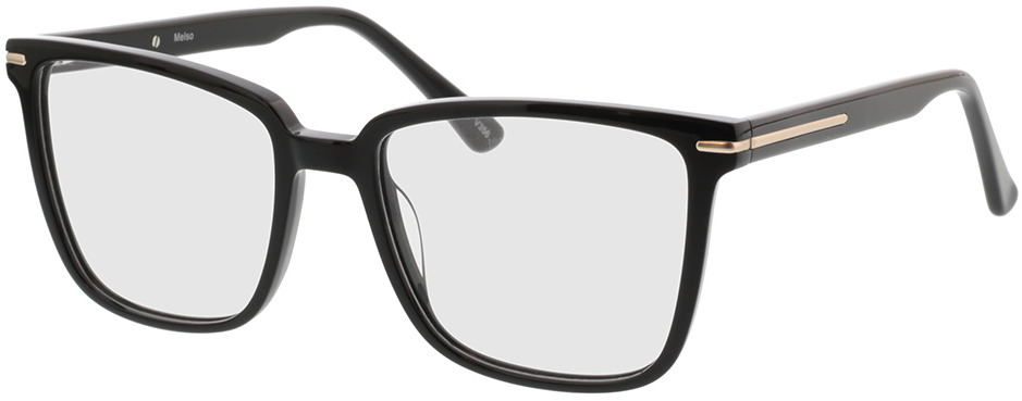 Picture of glasses model Melso-schwarz in angle 330