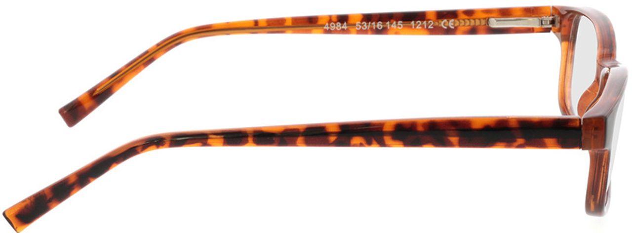 Picture of glasses model Klaros-braun-meliert in angle 90