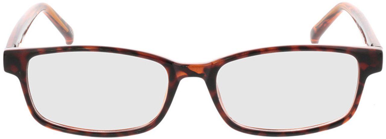 Picture of glasses model Klaros-braun-meliert in angle 0