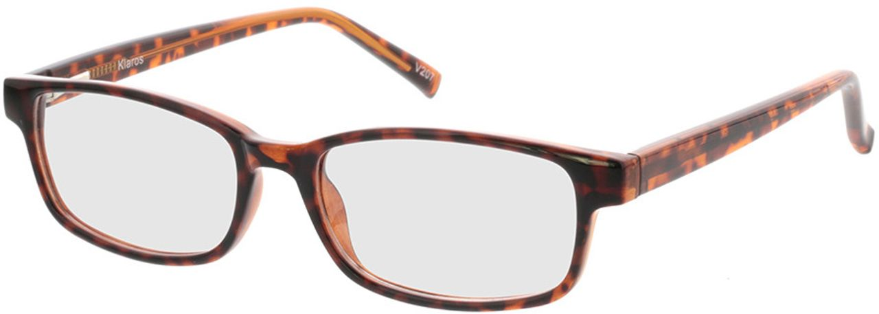 Picture of glasses model Klaros-braun-meliert in angle 330