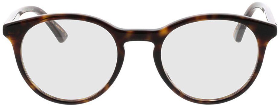 Picture of glasses model Gucci GG0406O-002 50-21 in angle 0