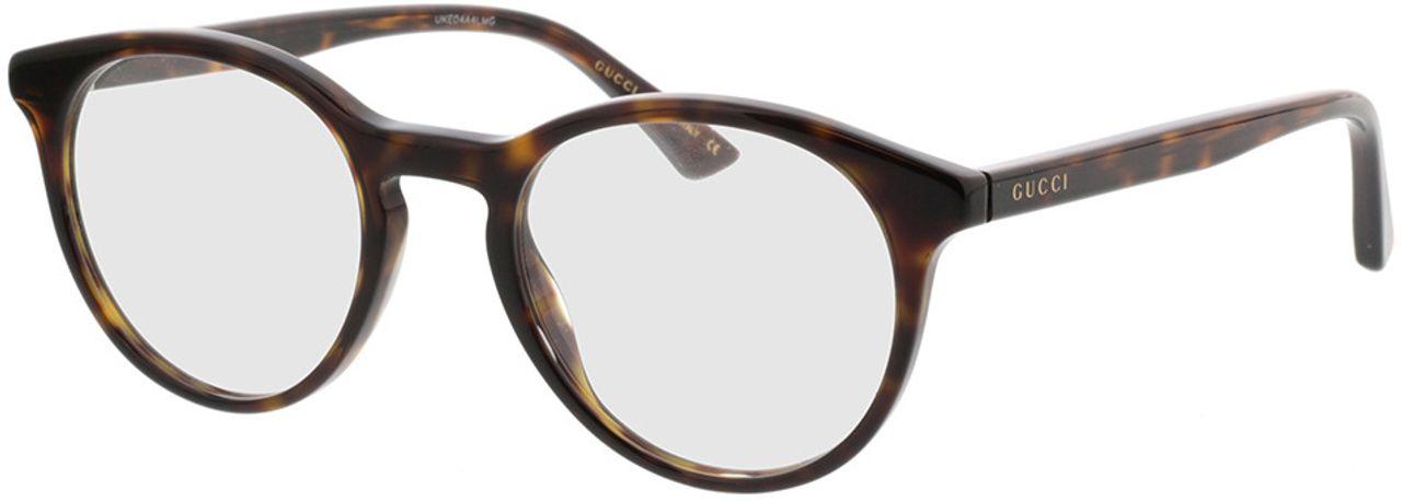 Picture of glasses model Gucci GG0406O-002 50-21 in angle 330