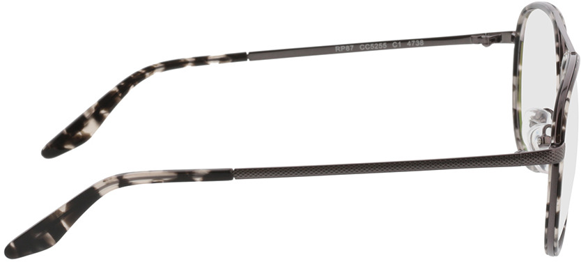 Picture of glasses model Long Beach Grijs/gevlekt/pulver in angle 90