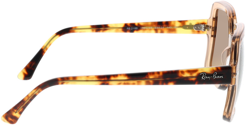 Picture of glasses model Ray-Ban RB2188 130143 53-24 in angle 90