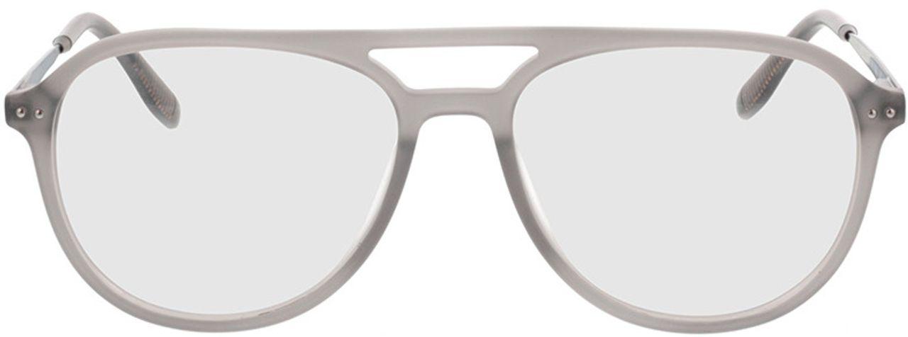 Picture of glasses model Pablo-matt grau-transparent in angle 0