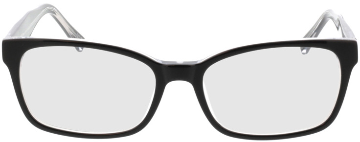 Picture of glasses model Gustelle-schwarz transparent in angle 0