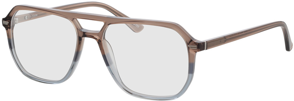 Picture of glasses model Clyde-braun/blau in angle 330