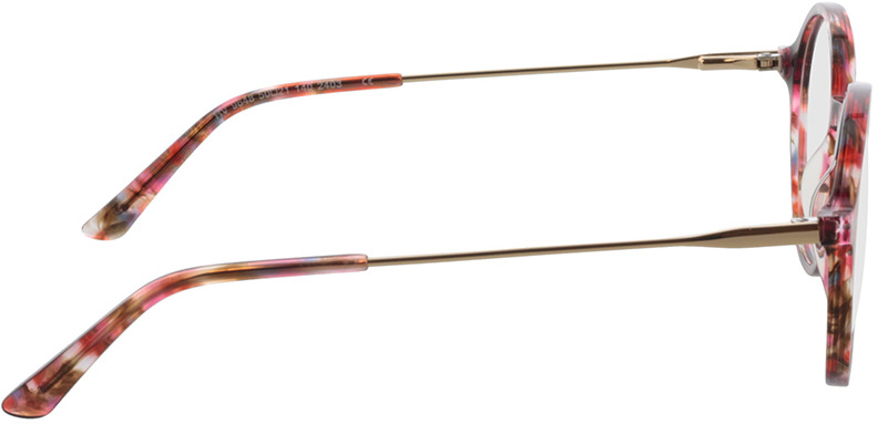 Picture of glasses model Spring-rot-meliert/gold in angle 90