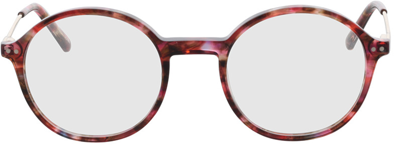Picture of glasses model Spring-rot-meliert/gold in angle 0