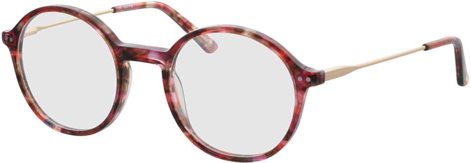 Picture of glasses model Spring-rot-meliert/gold in angle 330