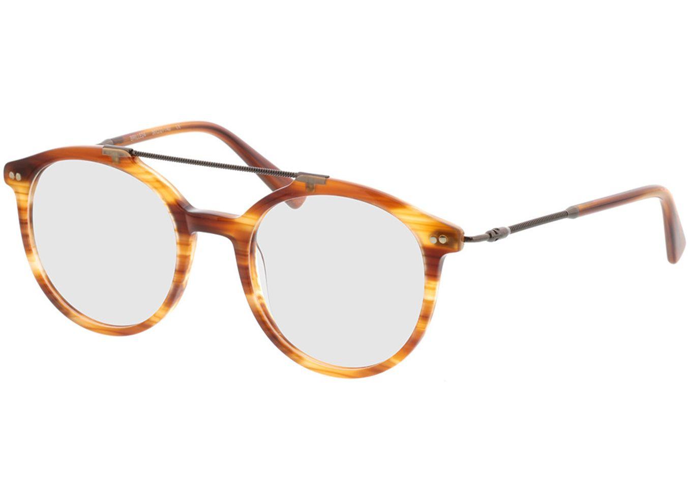 4110-singlevision-0000 Formia-braun-meliert Gleitsichtbrille, Vollrand, Rund Brille24 Collection