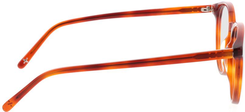 Picture of glasses model Topaz-orange transparent  in angle 90