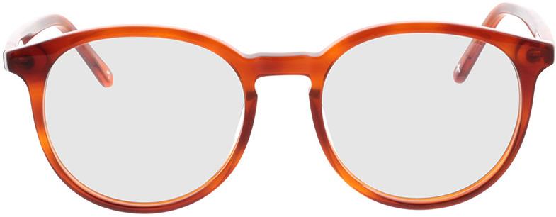 Picture of glasses model Topaz-orange transparent  in angle 0